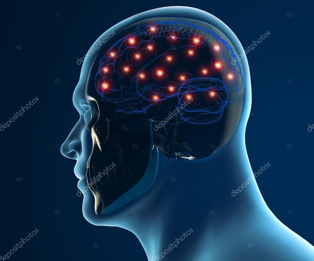 sinapsis de las neuronas cerebrales — Foto de stock © vampy1 #52789881