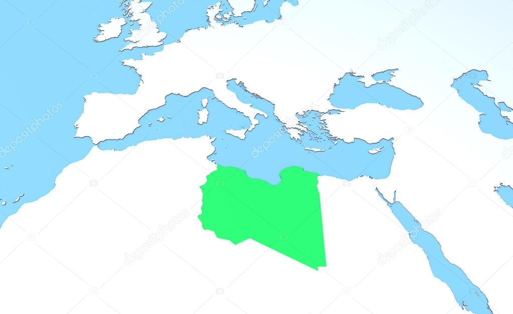 Libya On A World Map.Libya On World Political Map Stock Photo C Vampy1 65304601