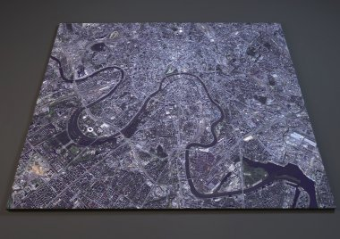 Satellite view of Moscow map