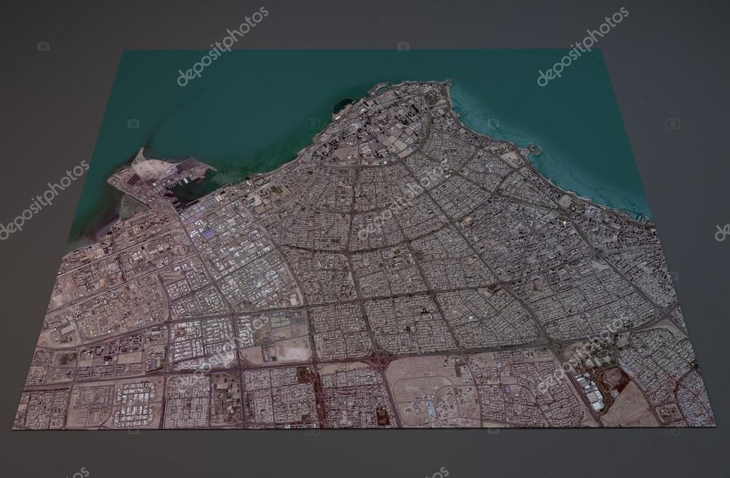 Map of Kuwait city, Kuwait — Stock Photo © vampy1 #81980446