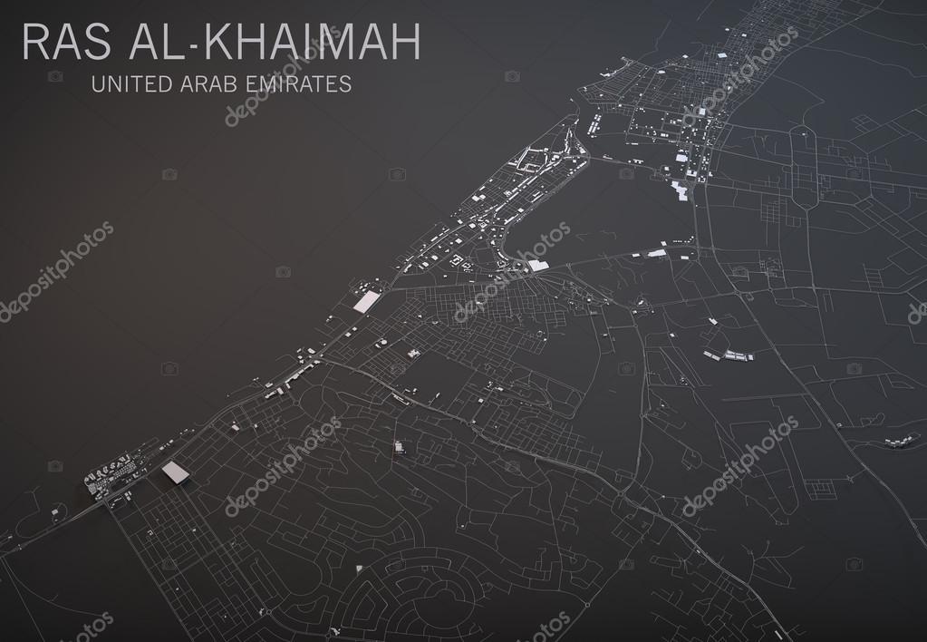 Map Of Ras Al Khaimah In The Uae Stock Photo C Vampy1 85321360