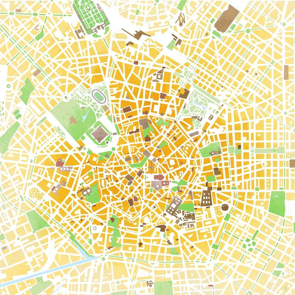 Map of Milan, Italy — Stock Photo © vampy1 #89092970