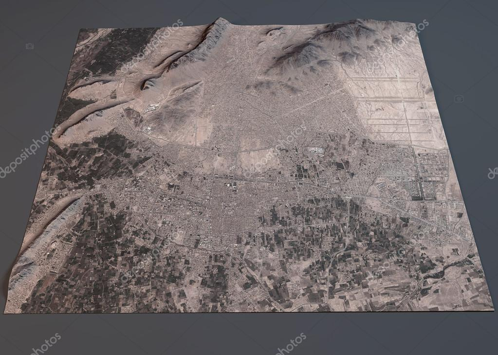 Kandahar map satellite view Stock Photo vampy1 92903684