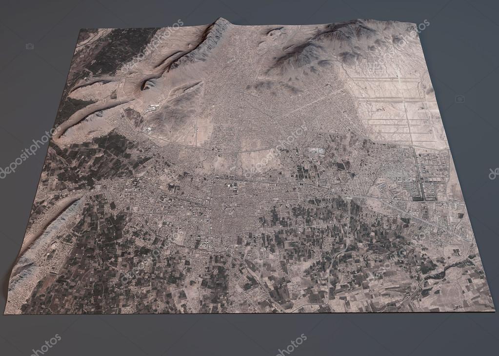 Kandahar map satellite view Stock Photo vampy1 92903684