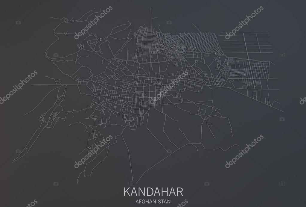Kandahar map satellite view Stock Photo vampy1 92904948