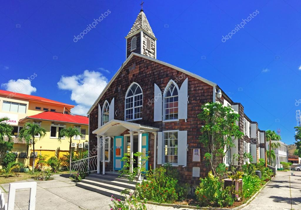 Philipsburg, Methodist church, street, Caribbean
