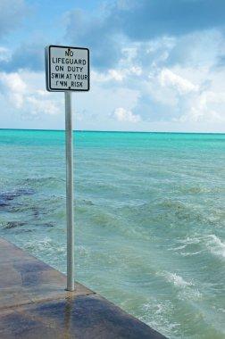 South Beach, lifeguard, pier, sea,  Key West, Keys, Cayo Hueso, Monroe County, island, Florida