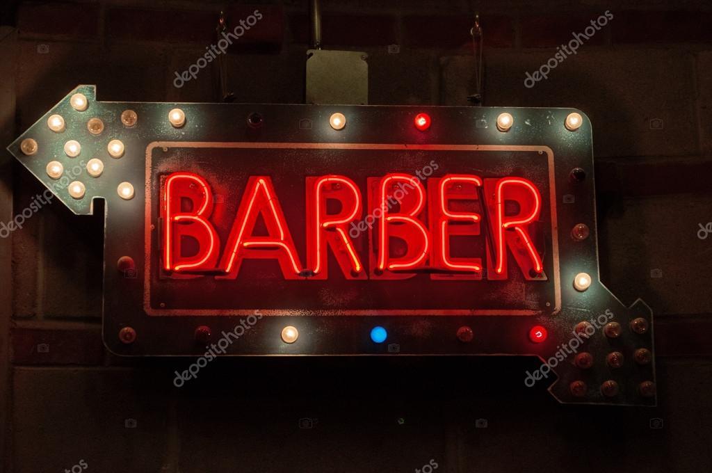 neon sign d 39 un salon de coiffure photographie vampy1. Black Bedroom Furniture Sets. Home Design Ideas