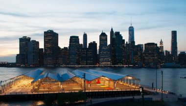 New York City, Brooklyn after sunset
