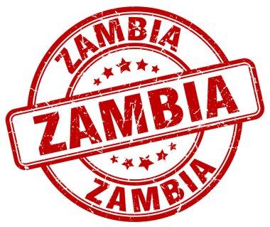 Zambia red grunge round vintage rubber stamp.Zambia stamp.Zambia round stamp.Zambia grunge stamp.Zambia.Zambia vintage stamp.