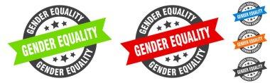 gender equality stamp. gender equality round ribbon sticker. label