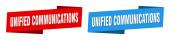 Unified Communications Ribbon Label Sign Set. Banner für einheitliche Kommunikation