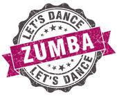 Zumba grunge lila pecsétet a elszigetelt fehér