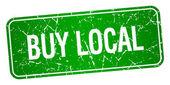 koupit místní Zelený čtvereček grunge texturou izolované razítko