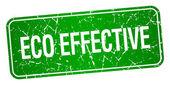 Eco efektivní Zelený čtvereček grunge texturou izolované razítko