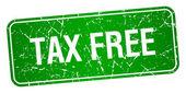 daňové zdarma Zelený čtvereček grunge texturou izolované razítko