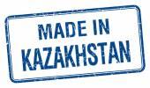 vyrobené v Kazachstánu modrý čtvereček izolované razítko