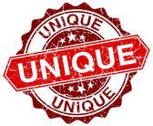 unikátní červené kulaté grunge razítko na bílém pozadí