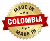 vyrobené v Kolumbii zlatý odznak s červenou stužku