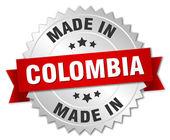 vyrobené v Kolumbii stříbrný odznak s červenou stužku