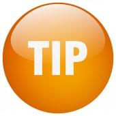 Oranžové kolo gel tip samostatný tlačítko