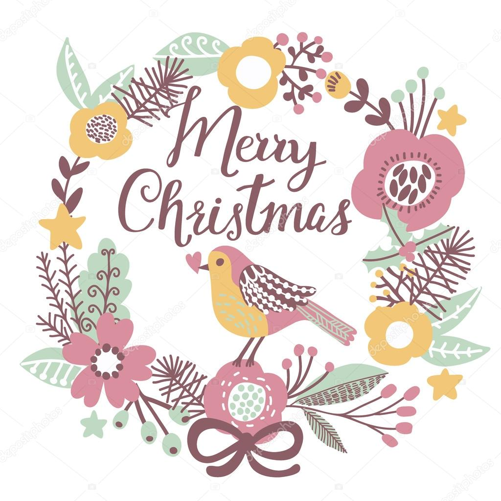 Dibujos Impresionantes De Navidad.Tarjeta De Dibujos Animados De Feliz Navidad Archivo