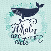 Fotografie cute cartoon blue whale card