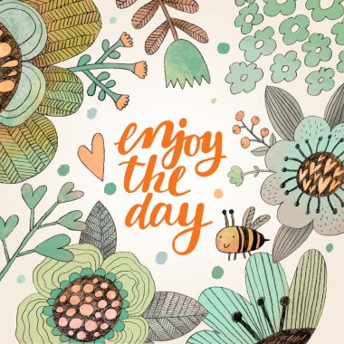 Cartoon Enjoy day card