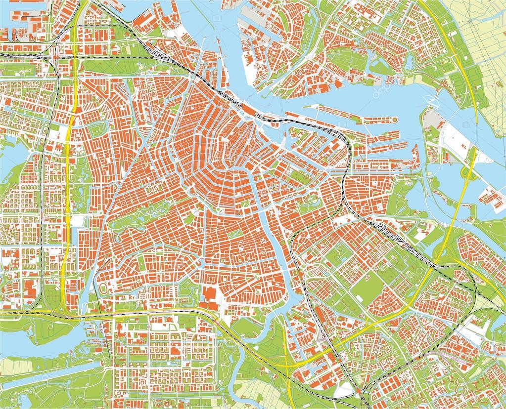 Amsterdam city map Stock Vector nicolarenna4 56523225