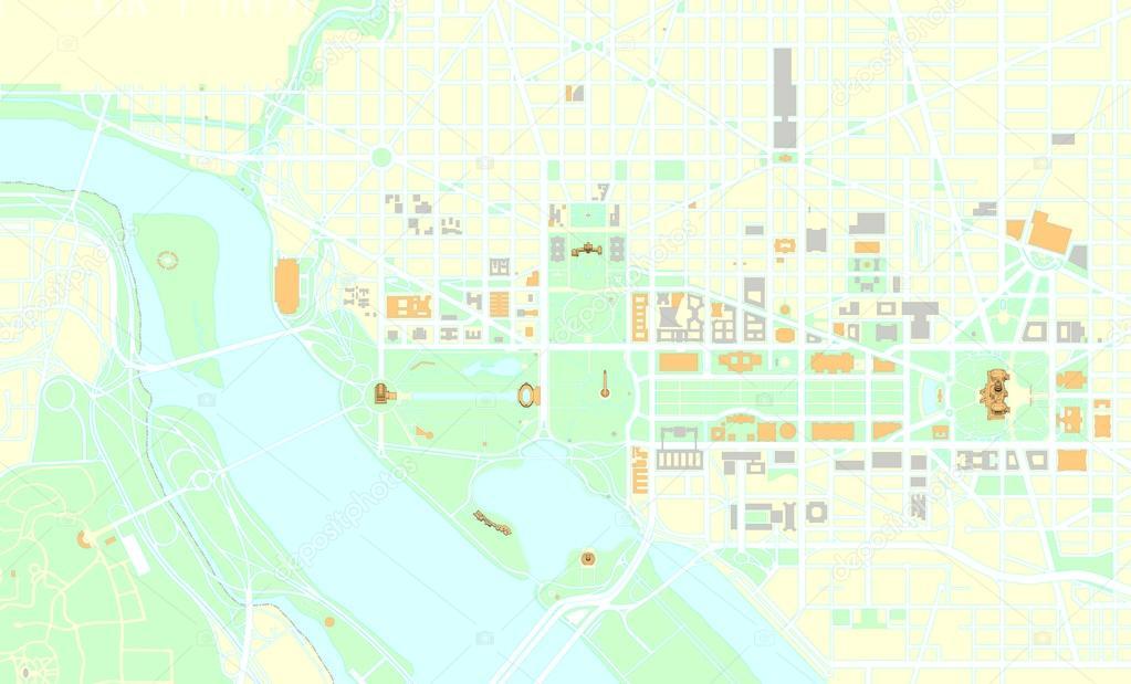 Washington Dc Map Download.Washington Dc Map Stock Vector C Nicolarenna4 56895491