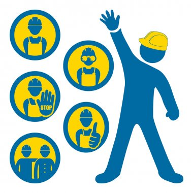 Men at work icons