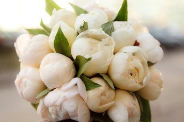 Gentle bouquet from peonies