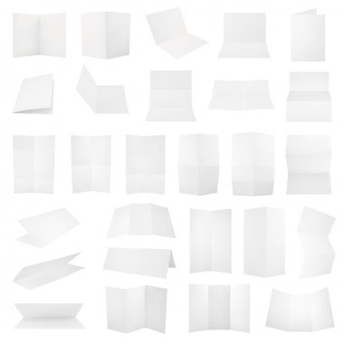 Multiple folded paper sheets