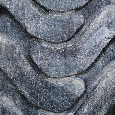 Threadbare tire surface fragment