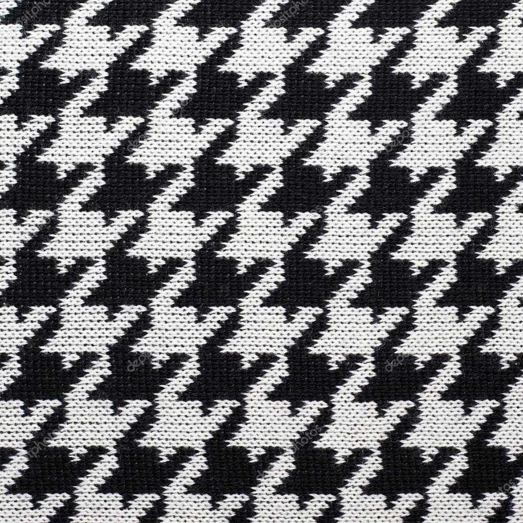 Noir et blanc tricot motif pied de poule photographie exopixel 58769475 - Motif pied de poule ...