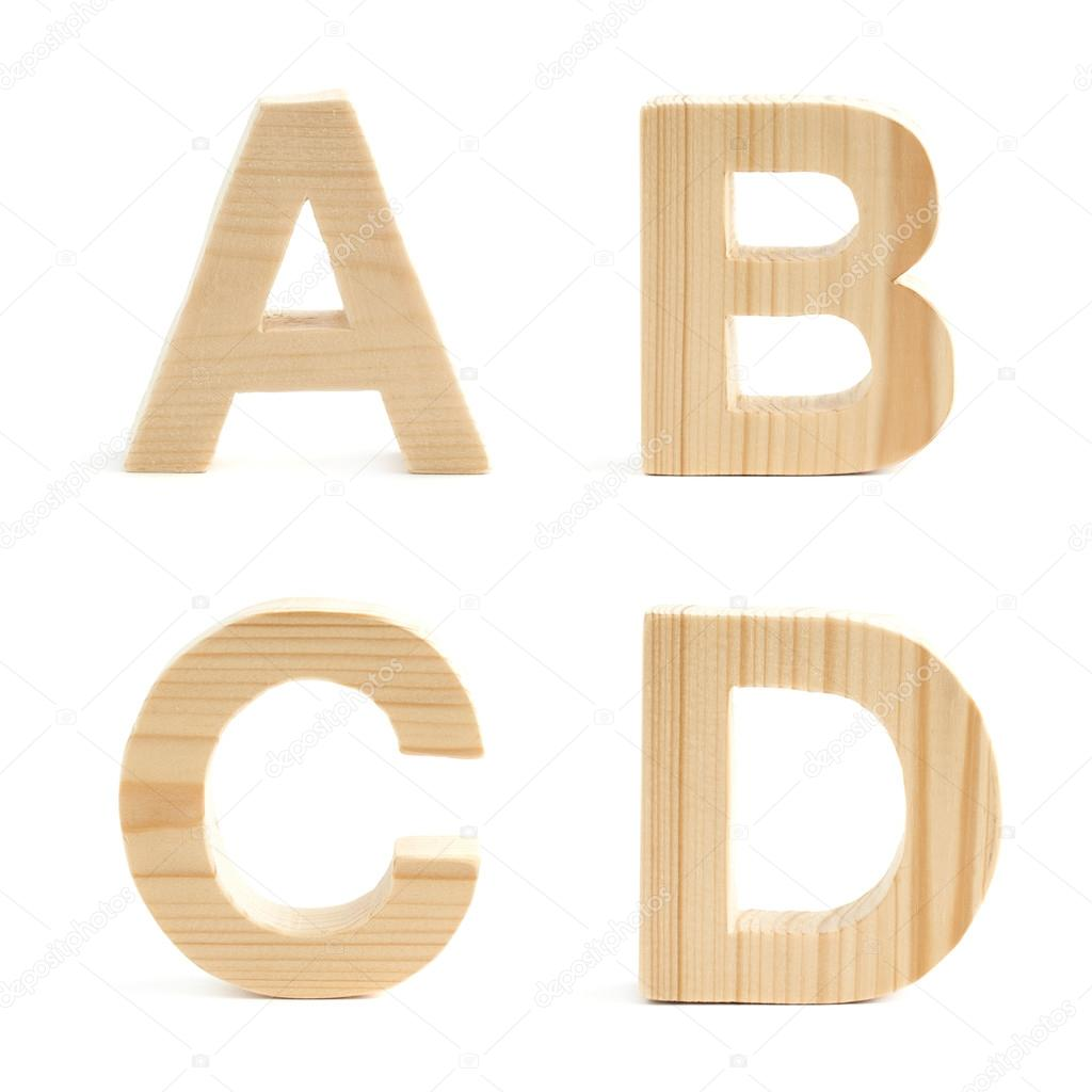 Wooden Block Letter Set Isolated  Stock Photo  Exopixel