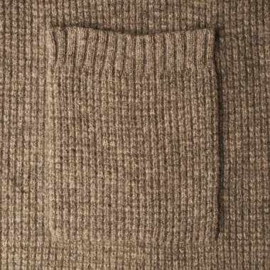 Brown knitted cloth texture
