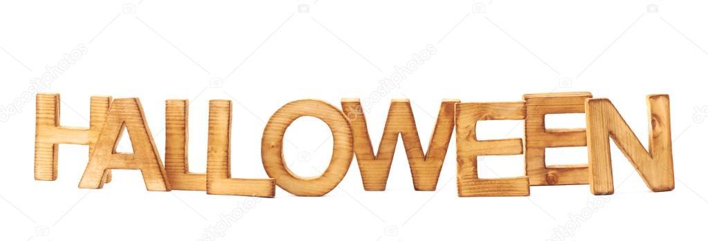 word halloween made of block letters stock photo exopixel 59312527