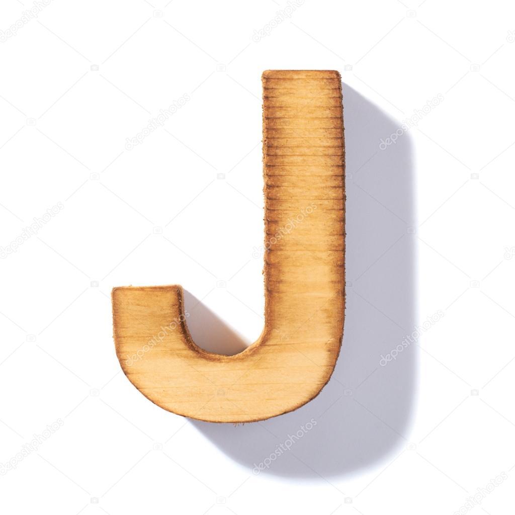 Brązowy Drewniany Litera J Zdjęcie Stockowe Exopixel 65893555