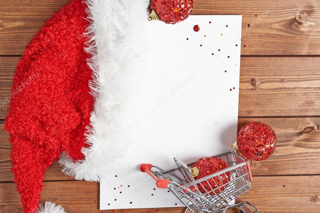 Shopping List For Christmas Stock Photo Exopixel 65898807