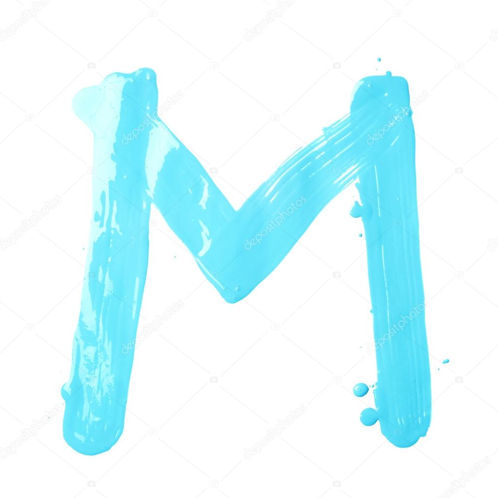Hand Drawn With The Oil Letter M Stock Photo Exopixel 65920395