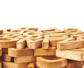 Fotografie Povrch pokrytý několika dřevěných písmen