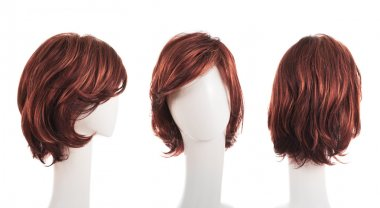 Hair wig over the mannequin heads
