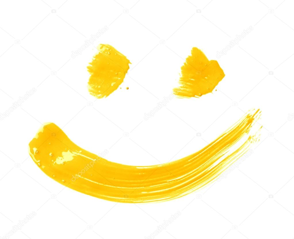 Smile drawn with a brush strokes