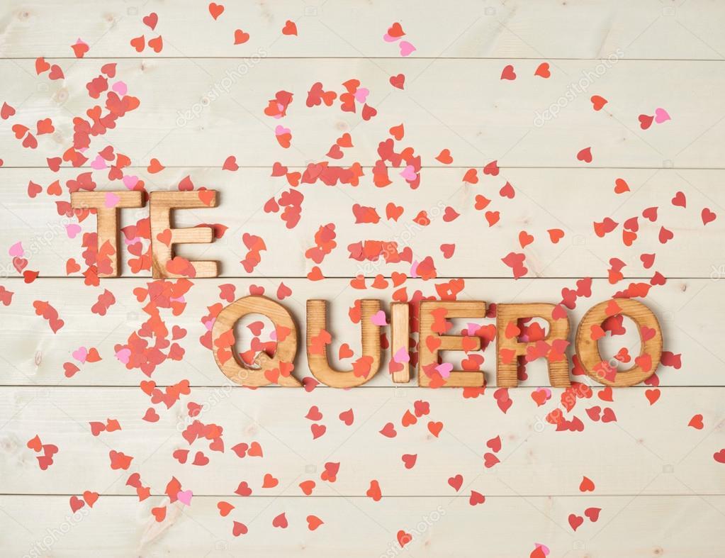 Te Quiero Heißt Ich Liebe Dich Stockfoto Exopixel 69284941