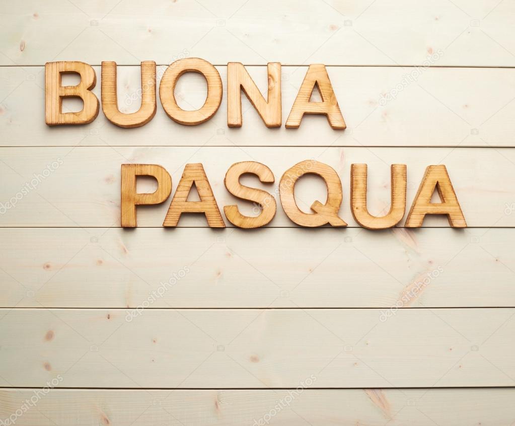 Buona Pasqua As Happy Easter In Italian Stock Photo Exopixel