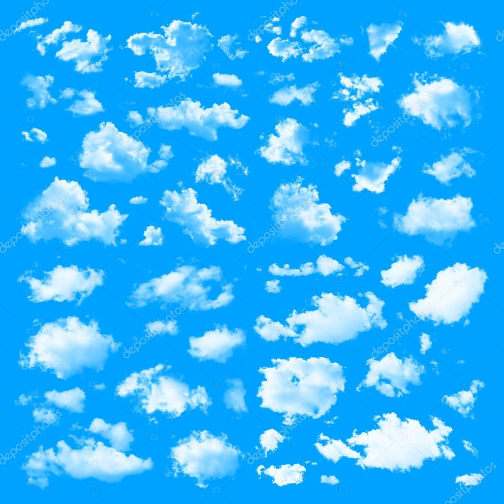 Set of multiple clouds