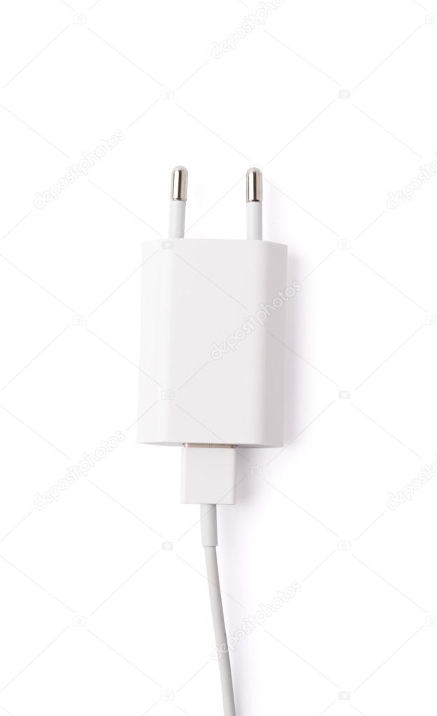 Fragment Of The White Adapter Charger Stock Photo Exopixel 72833077