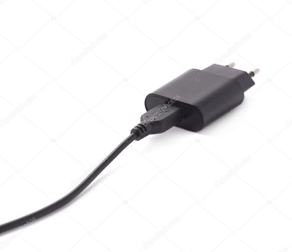 Fragment der schwarze Adapter-Ladegerät — Stockfoto © exopixel #72833083