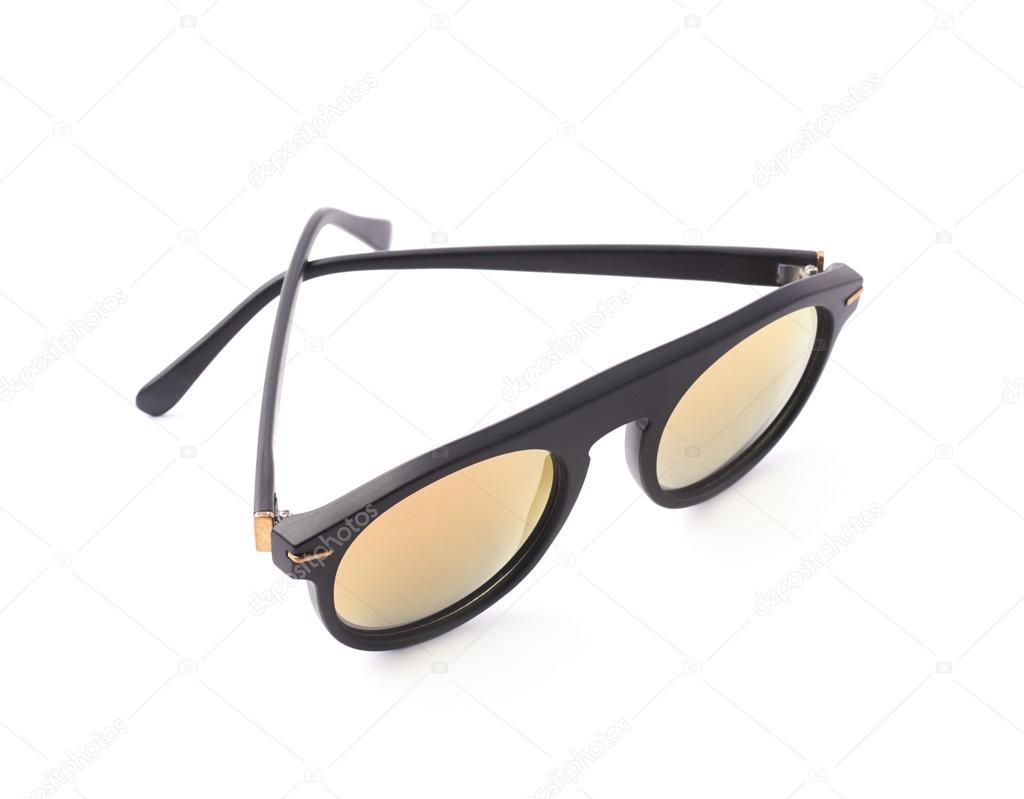 Hip yellow glasses in a black frame — Stock Photo © exopixel #72833123